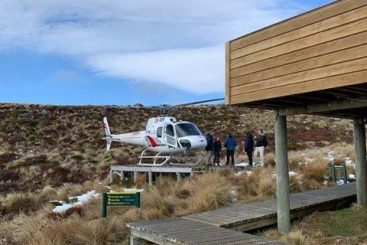 Heli at Luxmore pad
