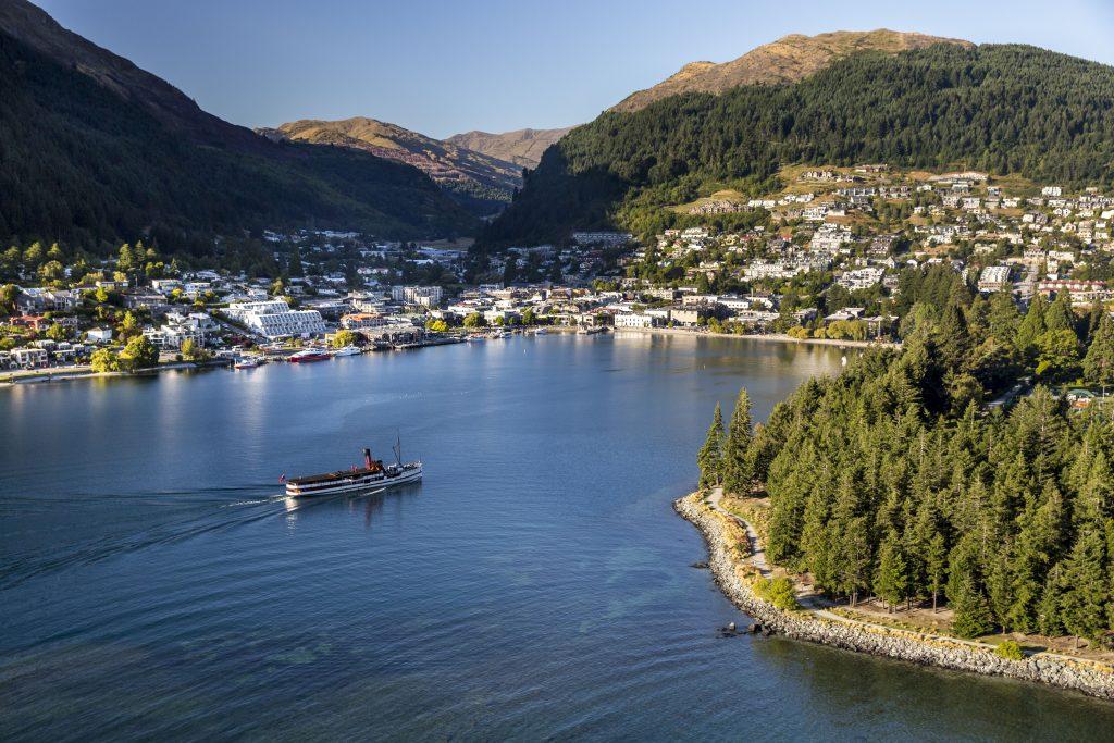 Ferry Boat in Queenstown New Zealand